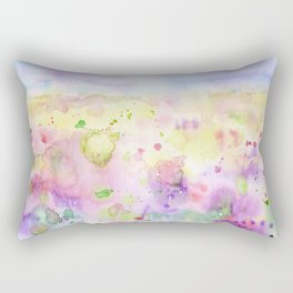 Watercolor abstract meadow Painting Rectangular Pillow