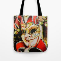 clown Tote Bags featuring CLOWN by ArtPavo
