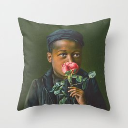 Vintage African American Art Throw Pillow
