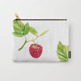Raspberry, Fruit, Forest, Nature, Leaf, Berry, Sun, Summer, Happy Carry-All Pouch
