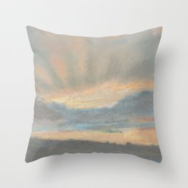 Sunset by Eugène Delacroix ca.1850, French Throw Pillow