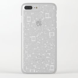 All Tech Line INVERTED / Highly detailed computer circuit board pattern Clear iPhone Case
