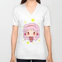 jem V-neck T-shirts featuring  Estilo jem by guizmo04