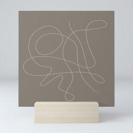 Minimal Line Art 003 Mini Art Print