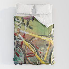Bicycle Therapy Focus Duvet Cover