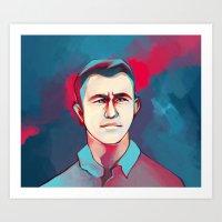 jon contino Art Prints featuring DON JON by tidlin