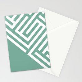 Mint Maze Stationery Cards