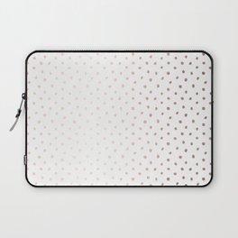 Cool Rose Gold Polka Dots Laptop Sleeve