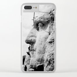 Mount Rushmore Construction Photo Clear iPhone Case