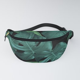 Tropical Summer Night Jungle Leaves Dream #1 #tropical #decor #art #society6 Fanny Pack