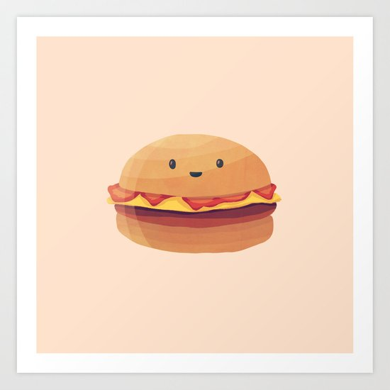 Burger Buddy Art Print