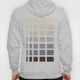 Grey Taupe Watercolor Gouache Geometric Square Matrix Pattern Hoody