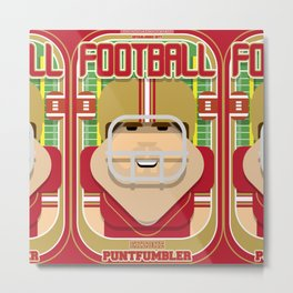 American Football Red and Gold - Enzone Puntfumbler - Bob version Metal Print
