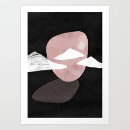 Rocks dark landscape Art Print