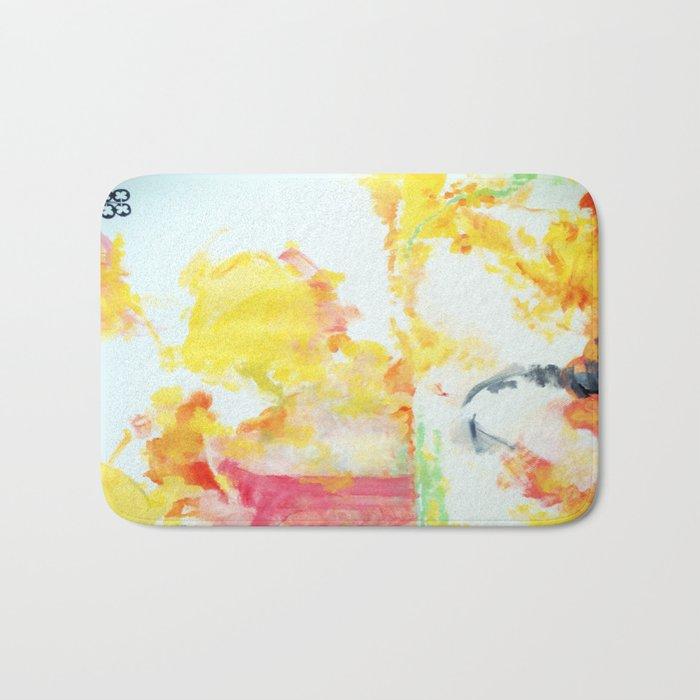 watercolor 2 Bath Mat