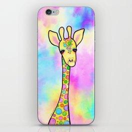 Giraffe in the Rainbow iPhone Skin