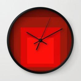 Block Colors - Reds Wall Clock