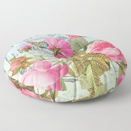 Vintage Flowers #3 Floor Pillow