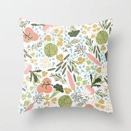 Veggies Garden Throw Pillow