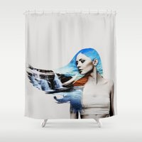 frozen Shower Curtains featuring Frozen by EclipseLio