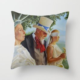 American Uncertainty Throw Pillow