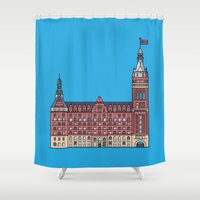 milwaukee Shower Curtains featuring Milwaukee City Hall by Tom Johnson