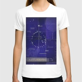 Druids Circle, Castlerigg, Keswick, Cumbria blueprint T-shirt