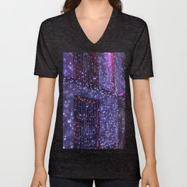 Purple Road. Fashion Textures Unisex V-Neck