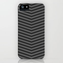Charcoal Black Chevron iPhone Case
