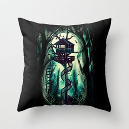 Magical Treehouse Throw Pillow