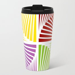 Colorful Squares twirling from the Center. Optical Illusion of PerspectiveColorful Squares twirling Travel Mug