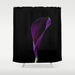 The Calla Purple 1 Shower Curtain