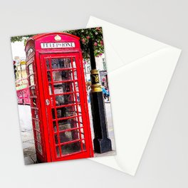 London England - Red Telephone Booth - Telephone Box Stationery Cards