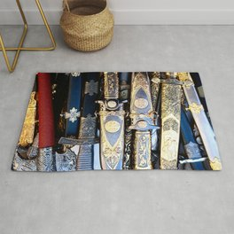 Vintage Blade Weapons Rug
