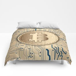 Bitcoin money gold Comforters