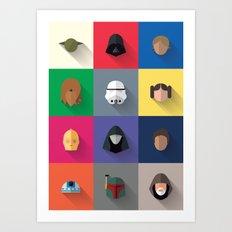 Icon Set Minimalist Poster Art Print