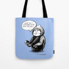 quarter life crisis Tote Bag