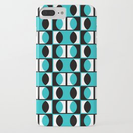 Geometric Pattern #133 (turquoise lens) iPhone Case