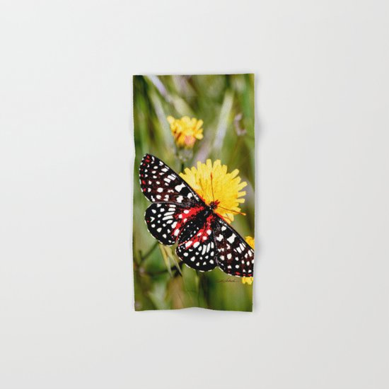 A Red Dotted Checkerspot Hand & Bath Towel