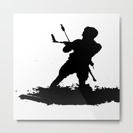 Board Out Of Your Mind Wakeboarding Silhouette Metal Print
