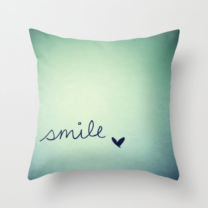 Throw Pillow Covers Society6 : s m i l e Throw Pillow by rubybirdie Society6