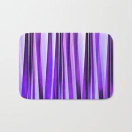 Luxurious Lilac, Purple and Silver Stripy Pattern Bath Mat