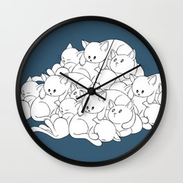 Pile o' Kitties Wall Clock
