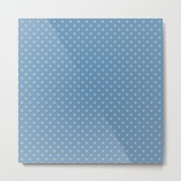 Sky blue background with polka dots Metal Print