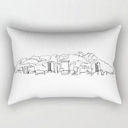 El Paso Skyline Drawing Rectangular Pillow