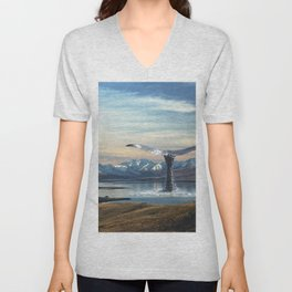 Big Fish In A Little Pond-Whale in New Zealand Unisex V-Neck
