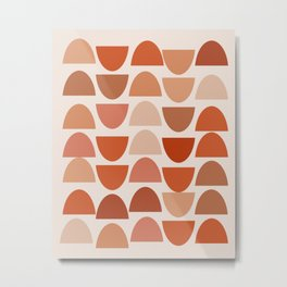 Shapes in Auburn and Terracotta 108 Metal Print