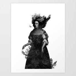 She Walks by Night Art Print