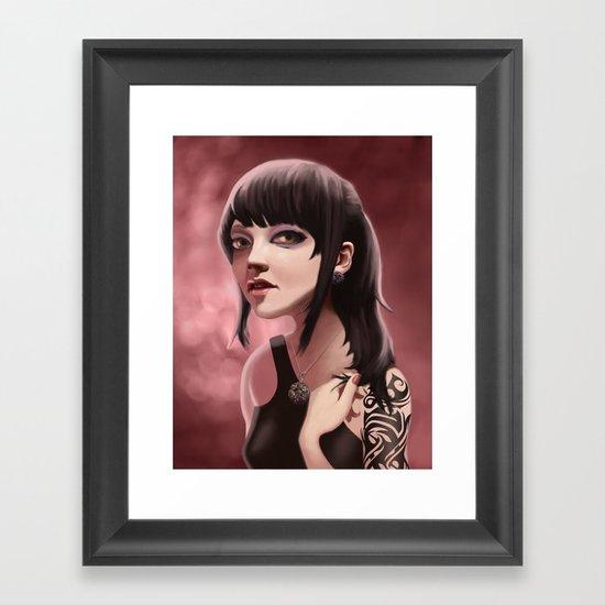 Pink Klockwerks Maiden Framed Art Print