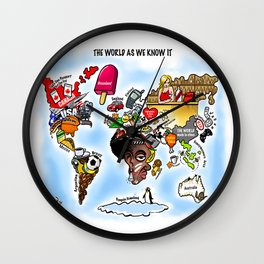 The World as we know it Wall Clock